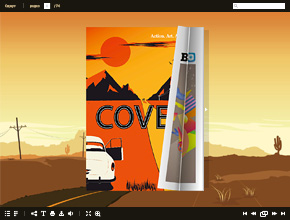 Online magazine with flash page flip