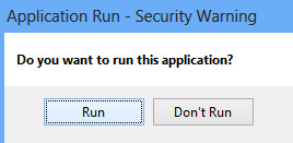 Run the Installer
